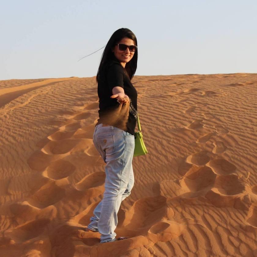 Me at centre of the Dubai Desserts