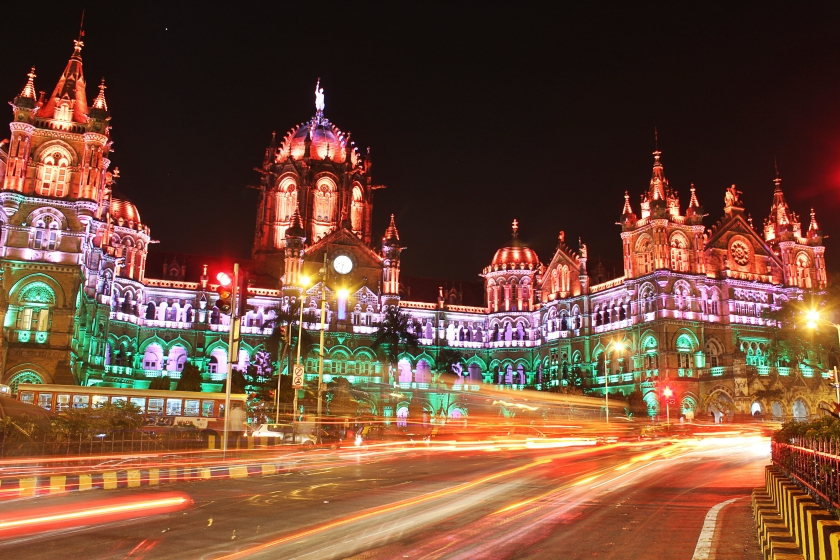 CST illuminated on Republic Day